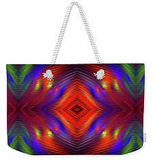 Weekender Tote Bag featuring the digital art Andee Design Abstract 3 2015 by Andee Design