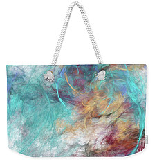 Weekender Tote Bag featuring the digital art Andee Design Abstract 4 2015 by Andee Design