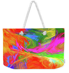 Weekender Tote Bag featuring the digital art Andee Design Abstract 5 2015 by Andee Design