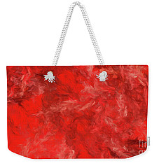 Weekender Tote Bag featuring the digital art Andee Design Abstract 6 2015 by Andee Design
