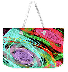 Weekender Tote Bag featuring the digital art Andee Design Abstract 7 2015 by Andee Design