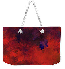 Weekender Tote Bag featuring the digital art Andee Design Abstract 73 2017 by Andee Design