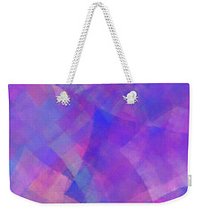 Weekender Tote Bag featuring the digital art Andee Design Abstract 75 2017 by Andee Design