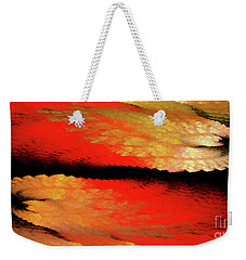 Weekender Tote Bag featuring the digital art Andee Design Abstract 77 2017 by Andee Design