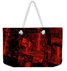 Weekender Tote Bag featuring the digital art Andee Design Abstract 80 2017 by Andee Design