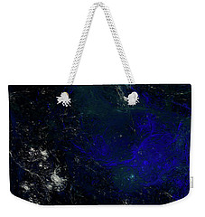 Weekender Tote Bag featuring the digital art Andee Design Abstract 81 2017 by Andee Design