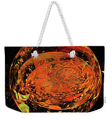 Weekender Tote Bag featuring the digital art Andee Design Abstract 82 2017 by Andee Design