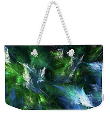 Weekender Tote Bag featuring the digital art Andee Design Abstract 84 2017 by Andee Design