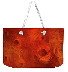Weekender Tote Bag featuring the digital art Andee Design Abstract 86 2017 by Andee Design