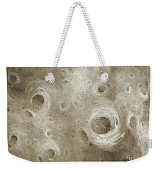Weekender Tote Bag featuring the digital art Andee Design Abstract 86 2017 B W by Andee Design