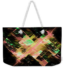 Weekender Tote Bag featuring the digital art Andee Design Abstract 87 2017 by Andee Design