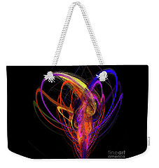 Weekender Tote Bag featuring the digital art Andee Design Abstract 91 2017 by Andee Design