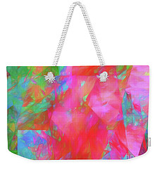 Weekender Tote Bag featuring the digital art Andee Design Abstract 92 2017 by Andee Design