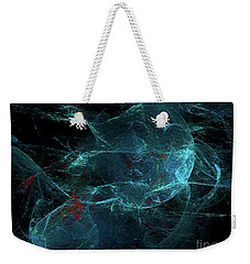 Weekender Tote Bag featuring the digital art Andee Design Abstract 93 2017 by Andee Design