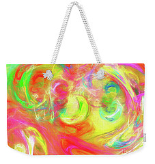Weekender Tote Bag featuring the digital art Andee Design Abstract 95 2017 by Andee Design