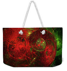 Weekender Tote Bag featuring the digital art Andee Design Abstract 96 2017 by Andee Design