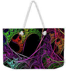 Weekender Tote Bag featuring the digital art Andee Design Abstract 98 2017 by Andee Design