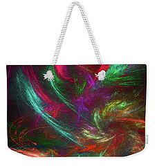 Weekender Tote Bag featuring the digital art Andee Design Abstract 99 2017 by Andee Design