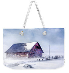 Weekender Tote Bag featuring the painting Anderson Dock Winter Storm by Christopher Arndt