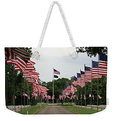 Weekender Tote Bag featuring the photograph Andersonville National Cemetery by Jerry Battle