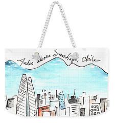 Andes Above Santiago Weekender Tote Bag