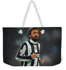Andrea Pirlo Weekender Tote Bag by Semih Yurdabak