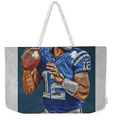 Andrew Luck Indianapolis Colts Art Weekender Tote Bag