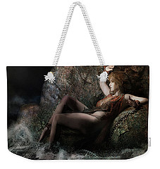 Weekender Tote Bag featuring the digital art Andromeda by Shanina Conway