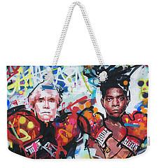 Andy Warhol And Jean-michel Basquiat Weekender Tote Bag