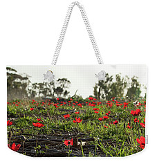 Anemones Forest Panorama Weekender Tote Bag by Yoel Koskas
