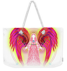 Weekender Tote Bag featuring the digital art Angel #199 by Barbara Tristan
