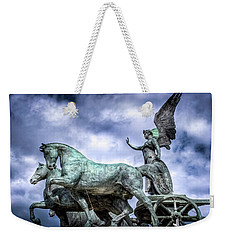 Angel And Chariot With Horses Weekender Tote Bag