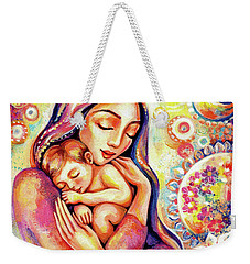 Weekender Tote Bag featuring the painting Angel Dream by Eva Campbell
