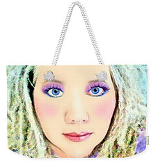 Weekender Tote Bag featuring the photograph Angel Eyes by Barbara Tristan