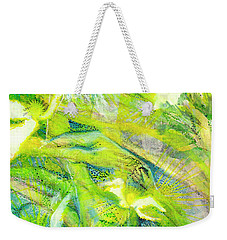 Weekender Tote Bag featuring the painting Angel Forest by Kym Nicolas