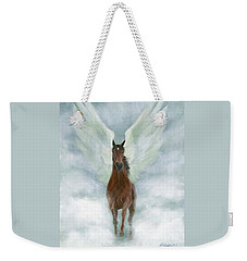 Angel Horse Running Free Across The Heavens Weekender Tote Bag