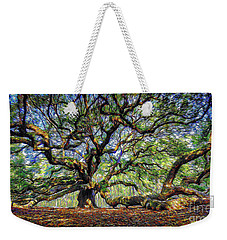 Angel Oak In Digital Oils Weekender Tote Bag