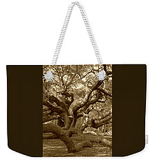 Angel Oak In Sepia Weekender Tote Bag