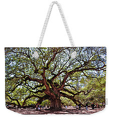 Angel Oak Tree 009 Weekender Tote Bag by George Bostian