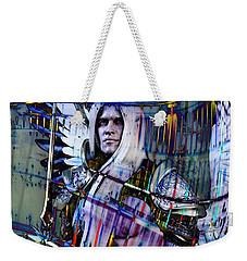 Weekender Tote Bag featuring the digital art Angel Of Light by Suzanne Silvir