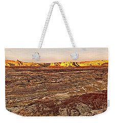 Weekender Tote Bag featuring the photograph Angel Peak Badlands - New Mexico - Landscape by Jason Politte