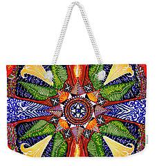 Weekender Tote Bag featuring the painting Angel Trumpet by Kym Nicolas