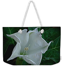 Angel Trumpet Opening Weekender Tote Bag by James C Thomas
