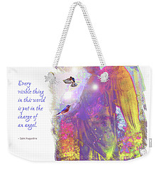 Weekender Tote Bag featuring the photograph Angel Vision by Marie Hicks