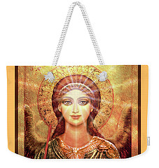 Angel Vision With Light - Green-gold Weekender Tote Bag
