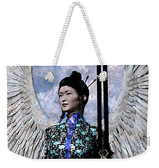 Angel Watercolor Weekender Tote Bag