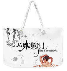 Angel With A Tough Job Weekender Tote Bag
