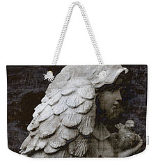 Angel With Dove Of Peace - Angel Art Textured Print Weekender Tote Bag