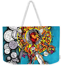 Angelic Script Angel Weekender Tote Bag