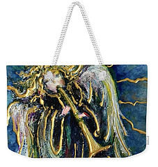 Weekender Tote Bag featuring the painting Angelic Song by Rae Chichilnitsky
